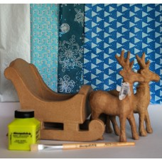 Christmas Sleigh and Two Reindeer Kit