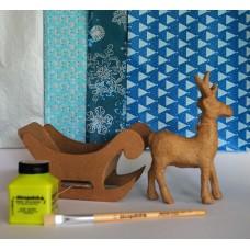 Christmas Sleigh & 1 reindeer