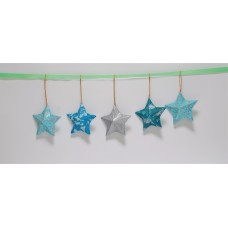 Christmas Five Hanging Stars Decoration Kit