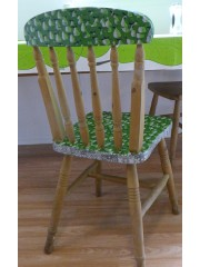 Decopatch and painted Green Chair
