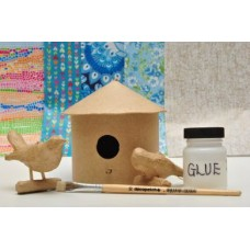 Bird House and Two Little Birds Kit - Round