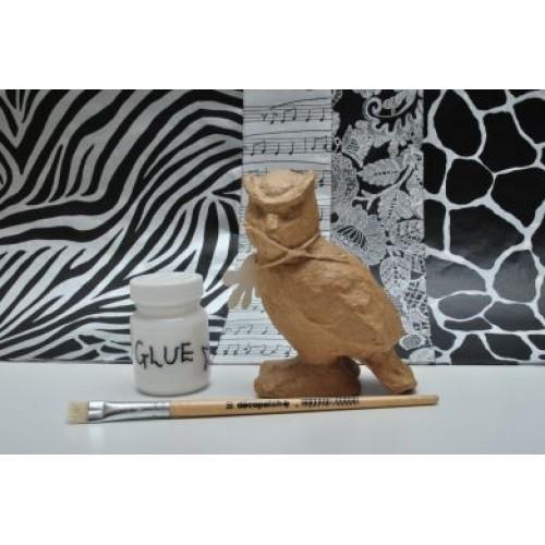 paper mache owl instructions