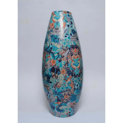 Decopatched Vase In Art Deco Style