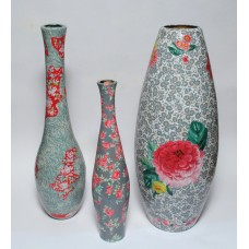 Set of 3 Vintage style Vases - Special offer!  £60